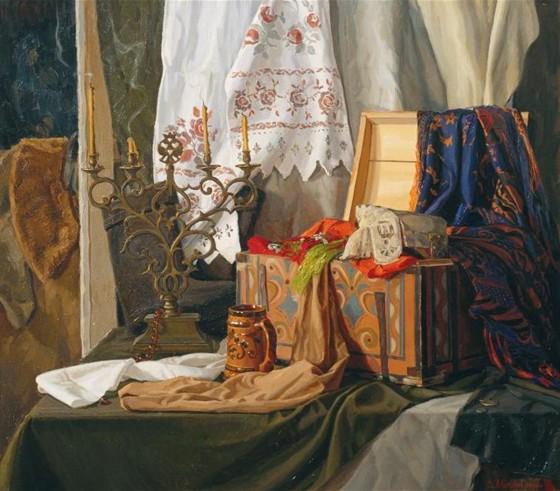 Картина Виктора Маторина «Бабушкин сундук»